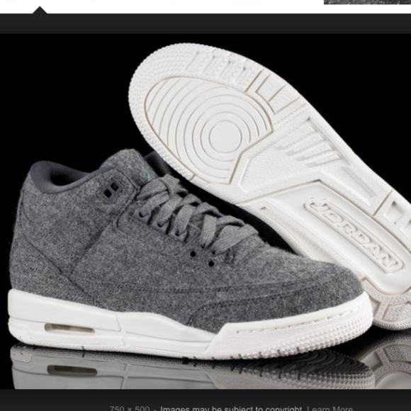 Women s Air Jordan Nike 3 Retro Wool BG Sneakers b82b52a12